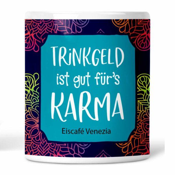 Trinkgeld ist gut für's Karma Trinkgeldkasse